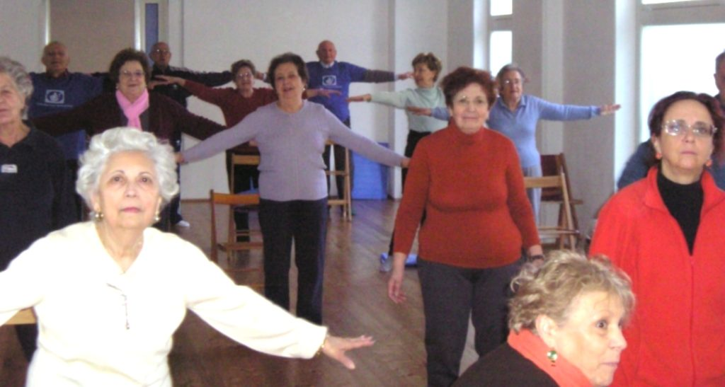 ginnastica per la terza età, ginnastica per anziani, ginnastica dolce